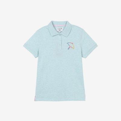 Arnold Palmer -女裝-彩色段染大傘polo衫-淺藍色