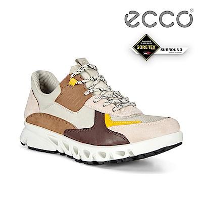ECCO MULTI-VENT W 全方位城市戶外防水運動休閒鞋 女鞋砂礫色