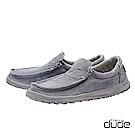 HEY DUDE(男) 無帶直套式加厚水洗棉布輕量休閒鞋  - 放空灰