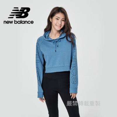 【New Balance】連帽短版長袖_女性_藍色_WT11515STL