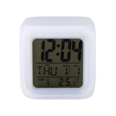 【LOTUS】七彩變色鬧鐘 時鐘