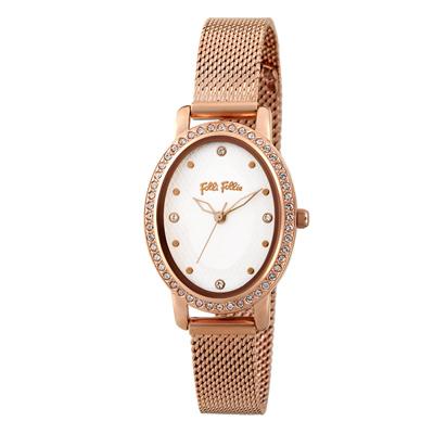 Folli Follie復古晶緻米蘭腕錶-玫瑰金(WF18B046BSZ-XX)