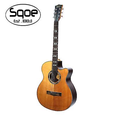 SQOE S250C 面單紅松木民謠木吉他