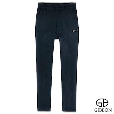GIBBON 四面彈力防水保暖圖騰長褲‧深藍