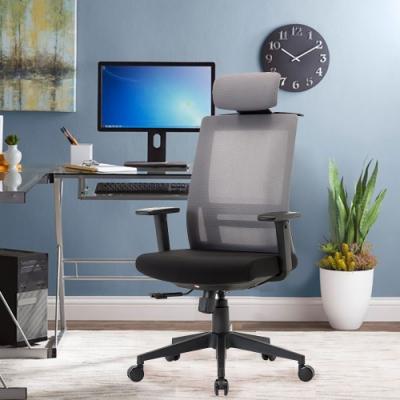 E-home Passion高背半網人體工學電腦椅 灰色