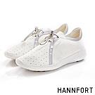 HANNFORT ICE抽繩輕彈運動休閒鞋-女-象牙白