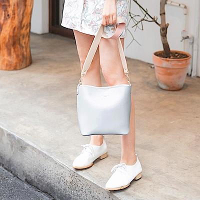 韓系簡約色塊配色優雅側背包-OB大尺碼