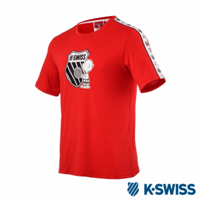 K-SWISS Tape T-Shirt SNOOPY聯名短袖T恤-男女-紅