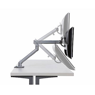 【Herman Miller】Flo 電腦螢幕桌上型支撐架(金屬霧銀)