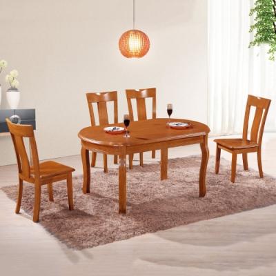 MUNA 808型柚木色實木餐椅 43X43X91cm