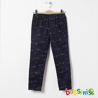 bossini女童-輕鬆窄管長褲04黑