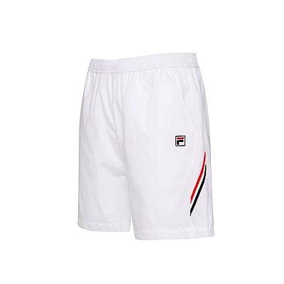 FILA男平織短褲-白 1SHS-5005-WT