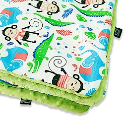 La Millou 暖膚豆豆毯-歡樂拉拉猴(香草綠薄荷)