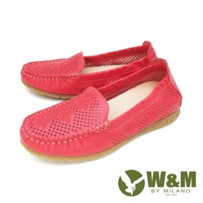 W&M (女)素面內增高鞋 莫卡辛鞋 樂福鞋 女鞋-紅(另有白. 藍)