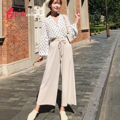【brs】韓版寬鬆垂墜風休閒九分闊腿褲(三色)
