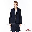 BRAPPERS 女款 合身長版毛料大衣-深藍