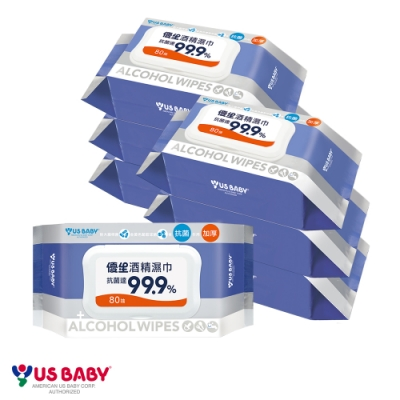 優生 超厚型抗菌酒精濕巾80抽 6+1包