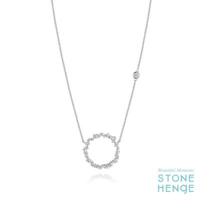 STONEHENGE 斯通亨奇 純銀雅致造型鋯石項鍊