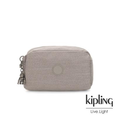Kipling 溫柔燕麥色長形化妝包-GLEAM