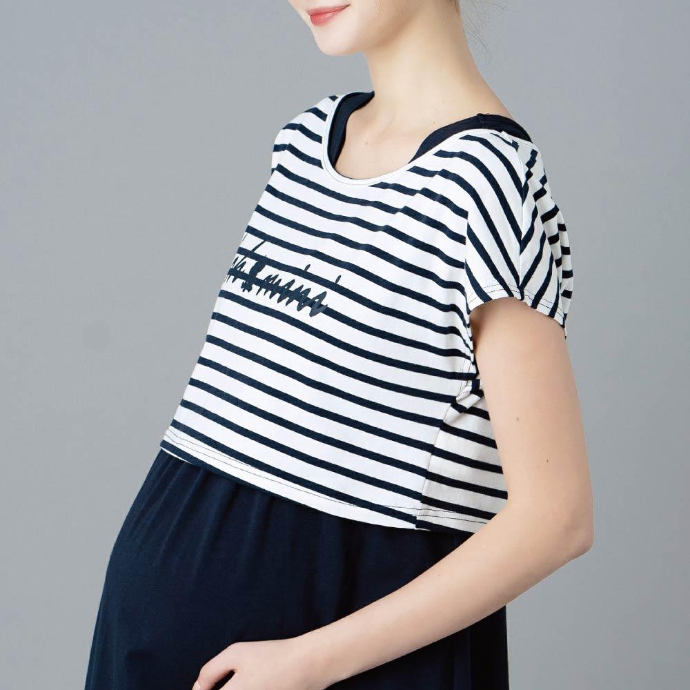 【ohoh-mini孕哺裝】渡假風兩件式孕哺洋裝