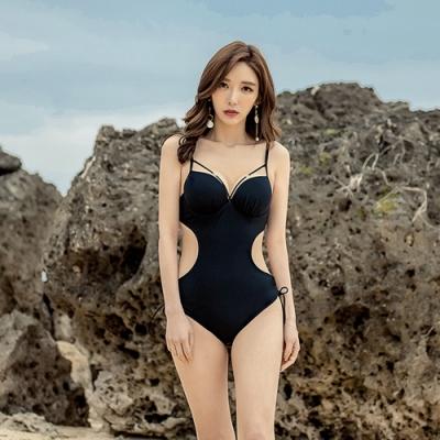 Biki比基尼妮泳衣,極冰性感挖腰連身泳衣泳裝(M-XL)