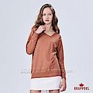 BRAPPERS 女款 不對稱斜領線衫-橘