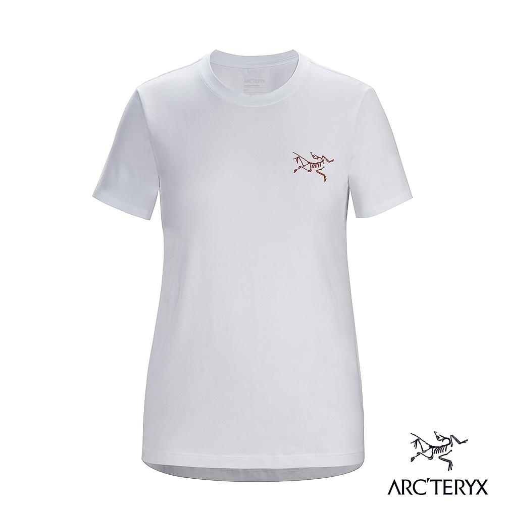 Arcteryx 始祖鳥 女 LOGO 有機棉 短袖 休閒Tee 白