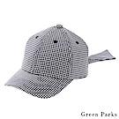 Green Parks 後綁帶造型格紋帽