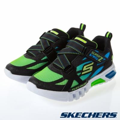 SKECHERS 男童燈鞋系列 FLEX GLOW - 400015LBBLM