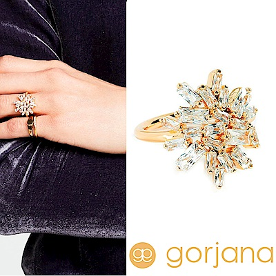 GORJANA 公主切割 方鑽戒指 多墜式拼接 Amara Cluster Ring