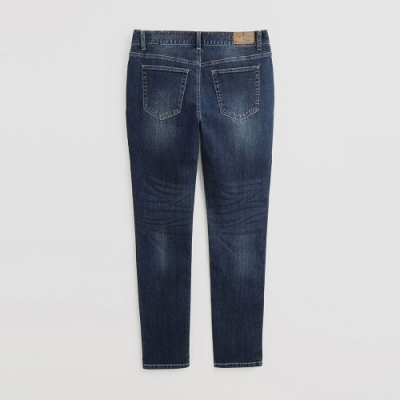 Hang Ten - 男裝 - 自然刷色牛仔長褲 - 深藍