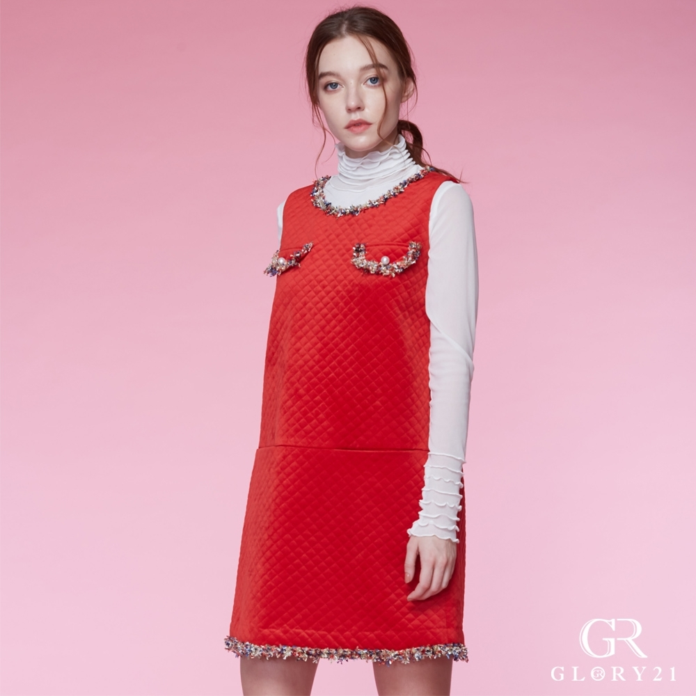GLORY21小香風短洋裝