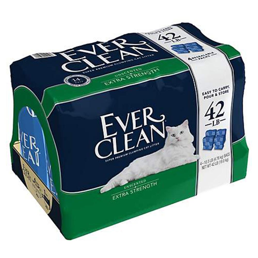 Ever Clean 藍鑽 無香低過敏 超凝結貓砂(4入)42磅