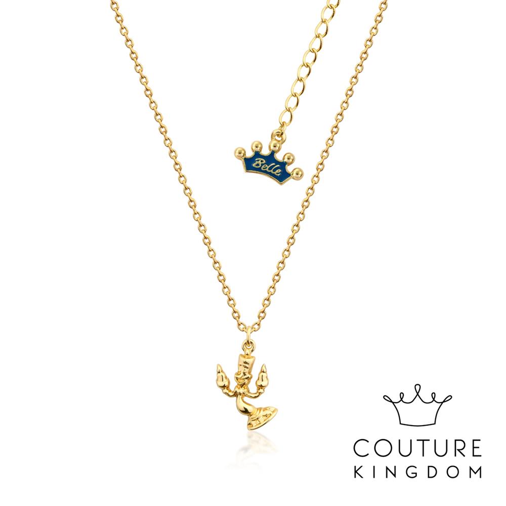Disney Jewellery by Couture Kingdom 燭台盧米亞鍍金項鍊