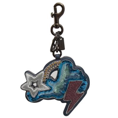 COACH Cloud N Stars亮片造型吊飾/鑰匙圈(藍)