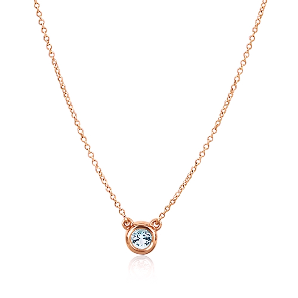 Tiffany & Co. 0.17克拉鑽石18K玫瑰金項鍊