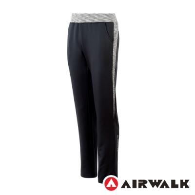 【AIRWALK】休閒針織長褲-女-黑/灰