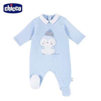 chicco-快樂企鵝-點點夾棉有領後開兔裝