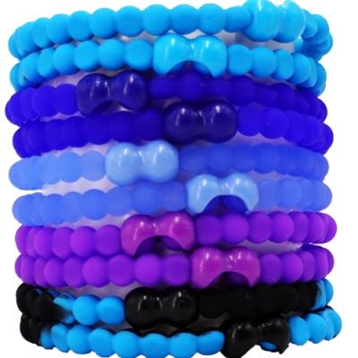 Pro Hair Tie 扣環髮圈10件組-藍色海洋