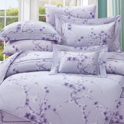 岱思夢   雙人 60支天絲兩用被床包組    洛薇妮-紫