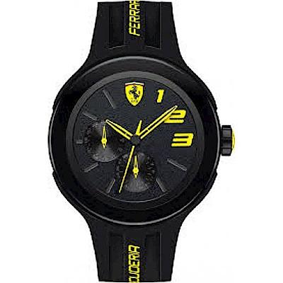 FERRARI Pit Crew速度感時尚腕錶/黃/FA0830224