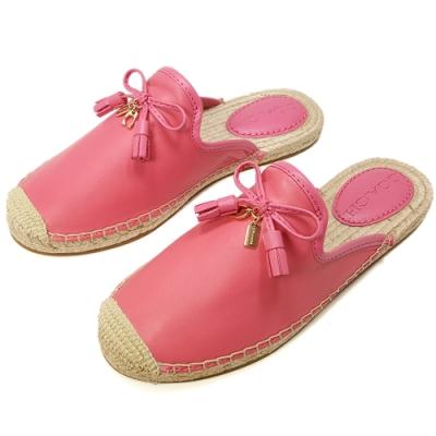 COACH 新款 帆布牛皮穆勒鞋/懶人鞋-桃紅色