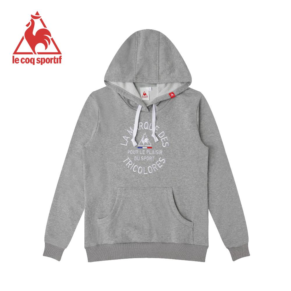 le coq sportif 法國公雞牌長袖連帽T恤 男-灰