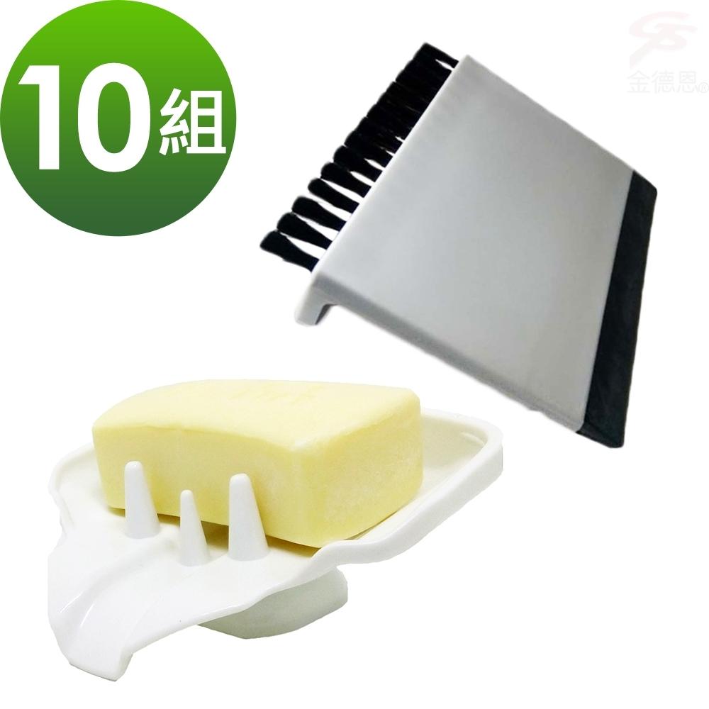 【團購主打】10組香皂菜瓜布水槽鳥嘴瀝水架+送菜渣刮水刷x10