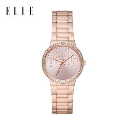 ELLE Bastille 流星閃耀粉紅皮革手錶 32mm ELL23008