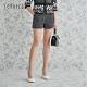 JESSICA - 黑色斜紋軟呢時尚百搭修身闊腿短褲 product thumbnail 1