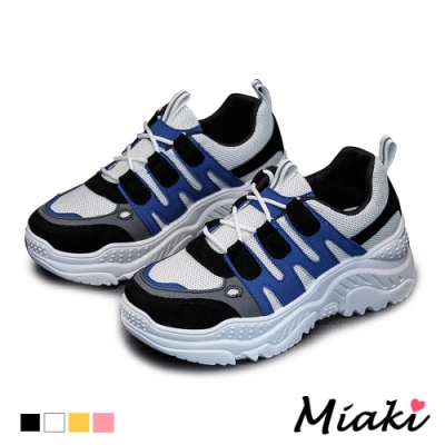 Miaki-老爹鞋韓風時尚厚底運動鞋-黑