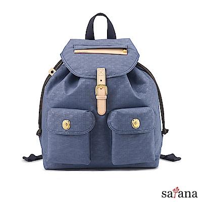 satana - Soldier 小休閒束口後背包 - 夜影藍