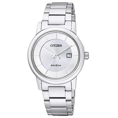 CITIZEN 星辰光動能簡約時尚手錶(EW1560-57A)-銀/31mm