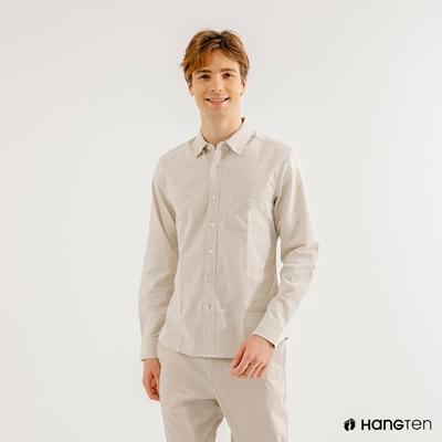 Hang-Ten-男裝-牛津紡簡約時尚襯衫-淺卡其